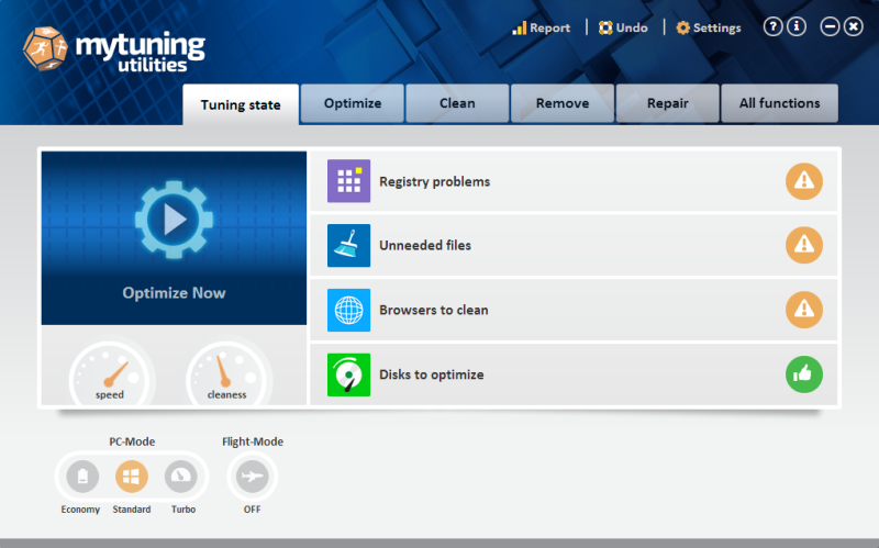Click to view mytuning utilities 15.0.1.33 screenshot